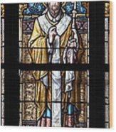 Stained Window Wood Print