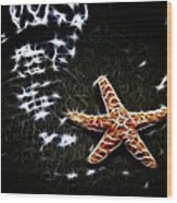 Star Fish Wood Print