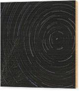 Star Trails 2 Wood Print