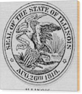 State Seal Illinois Wood Print