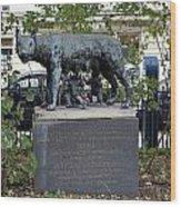 Statue In A Paris Park Wood Print