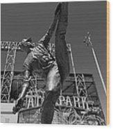 Statue Of Juan Marichal Outside Atandt Park San Francisco Wood Print