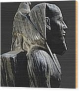 Statue Of Khafre Enthroned. 2520 Bc Wood Print
