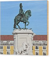 Statue Of King Jose I In Lisbon Wood Print