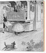 Steam Carriage, 1832 Wood Print