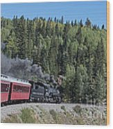 Steam Engine 488 At Osier On The Cumbres And Toltec Scenic Railroad Wood Print
