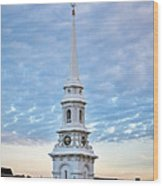 Steeple And Rooftops Wood Print