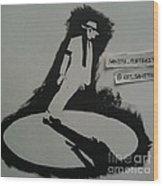 Stencil - Mj Wood Print