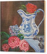 Rose And Pitcher Jenny Lee Discount Wood Print