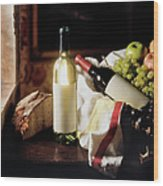 Still Life With Two Wine Bottles Wood Print