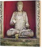 Stone Statue Of Buddha In Bali Indonesia Wood Print