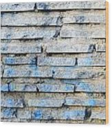 Stone Wall Texture Wood Print