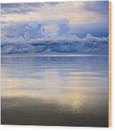 Storm Clouds And Lake Winnipeg At Wood Print