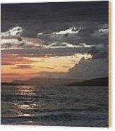 Storm Clouds At Dusk Wood Print