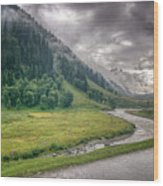 storm clouds over mountains of ladakh Jammu and Kashmir India Wood Print