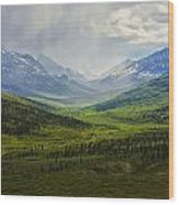 Storm Clouds Over The Klondike Valley Wood Print