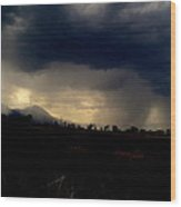 Storm Coming In Wood Print by Johanna Elik