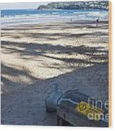 Storm Drainage Pipe On Manly Beach Wood Print