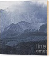 Stormy Peak Wood Print