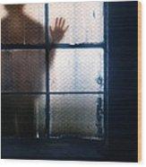 Stranger At The Window Wood Print
