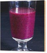 Strawberry Blueberry Smoothie Wood Print