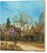 Strawberry Lodge Wood Print by Dale Jackson