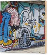 Street Art Valparaiso Chile 15 Wood Print