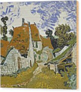 Street In Auvers-sur-oise Wood Print