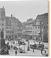 Street Market Coburg Germany 1903 Vintage Photograph Wood Print