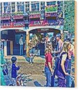 Street Scene Wood Print