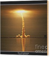 Sts-123 Endeavour Wood Print
