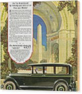 Studebaker Big Six - Vintage Car Poster Wood Print