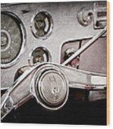 Studebaker Steering Wheel Emblem Wood Print