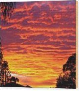 Stunning Sunset Wood Print