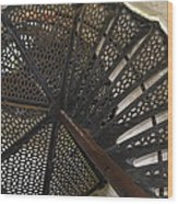 Sturgeon Point Lighthouse Spiral Staircase Wood Print