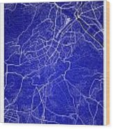 Stuttgart Street Map - Stuttgart Germany Road Map Art On Colored Wood Print