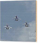 Sukhoi Su-27 Flanker Aircraft Wood Print