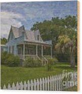 Sullivan's Island House Wood Print