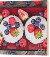 Summer Fruit Platter Wood Print by Jane Rix