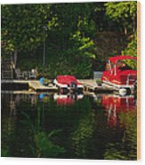Summer Morning On Muskoka River Wood Print
