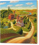 Summer On The Farm  Wood Print