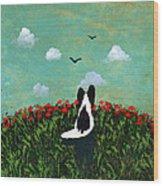 Summer Poppies Wood Print