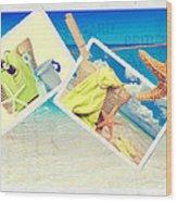 Summer Postcards Wood Print