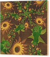 Summer's Last Sunflowers Wood Print