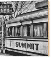 Summit Diner Wood Print