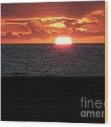 Sun Over Sea  Wood Print