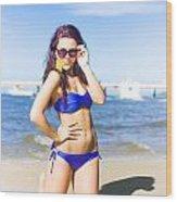 Sun Sand And Sea Leisure Wood Print