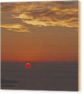 Sun Sinking Wood Print