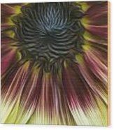 Sunflower In Oils Wood Print