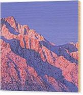 Sunrise At 14,494 Feet, Mount Whitney Wood Print